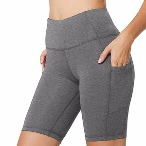High Waist Yoga Shorts Workout Pants with Pocket